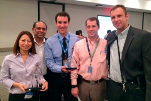 Members of Ria and Walmart celebrate at the Supplier Summit